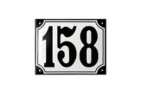 DANSBORG HOUSE NUMBER porcelain enamel sign