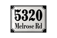 MARSELISBORG ADDRESS PLAQUE porcelain enamel sign