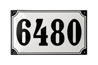 ROSENBORG HOUSE NUMBER porcelain enamel sign
