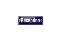 "House name plate ""reception"""