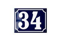House Numbers - enamel signs