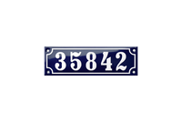 35842 french house number plaque