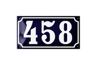 458 french house number plaque