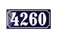 4260 french blue house number plaque