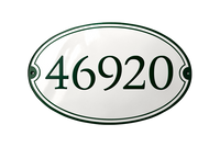 KLINTHOLM HOUSE NUMBER porcelain enamel sign