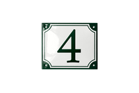 FREDERIKSBORG HOUSE NUMBER porcelain enamel sign