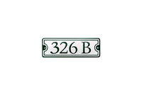 CHRISTIANSBORG HOUSE NUMBER porcelain enamel sign