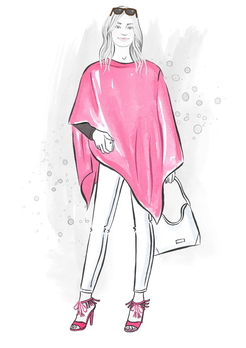 Pink summertime poncho