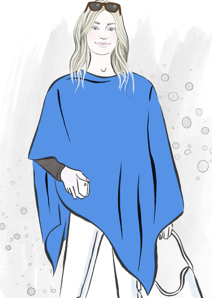 Blue summer poncho