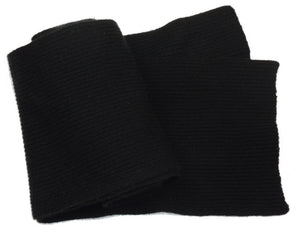 Fine Ribbed Cashmere Scarves Black