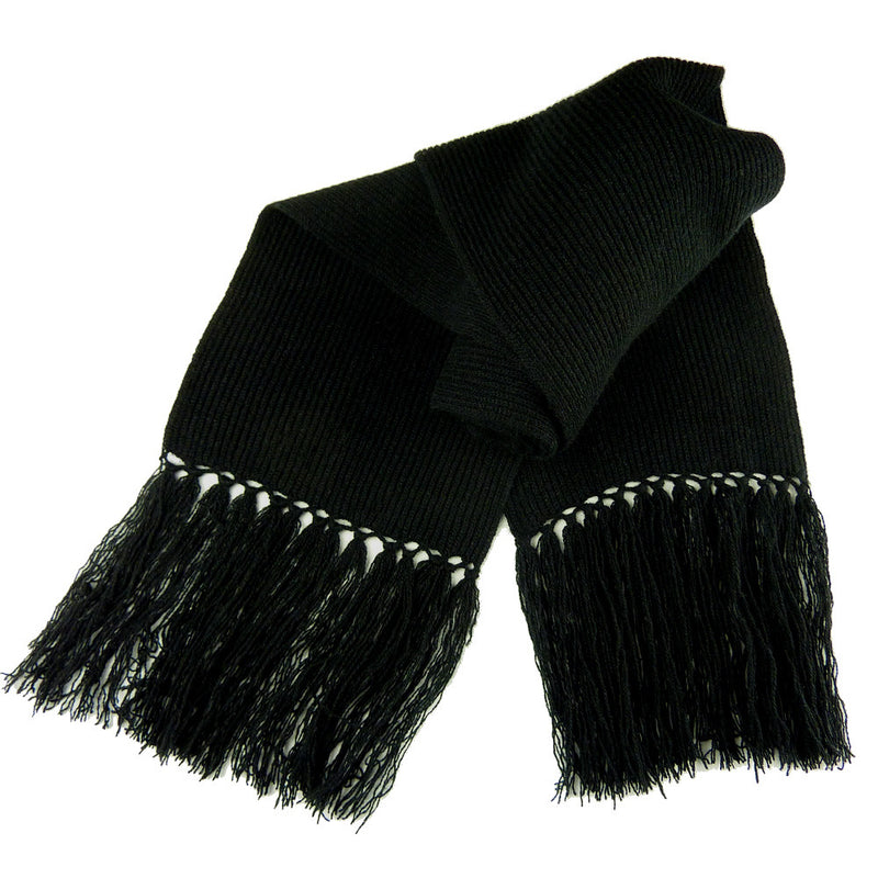 Black Cashmere Scarves with Tassels
