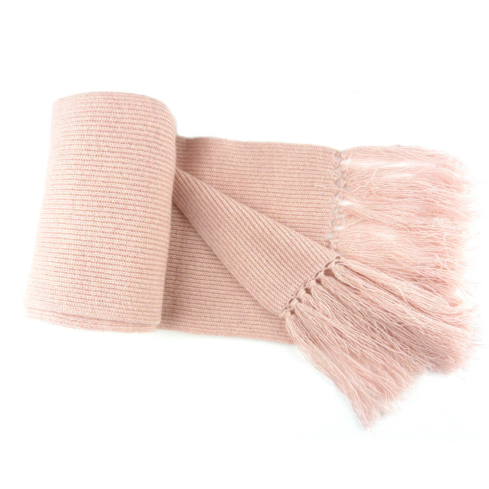 Pink Cashmere carf with Tassels