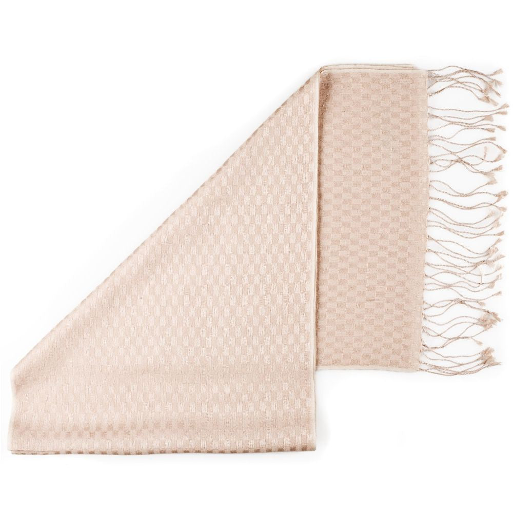 pashmina scarves checkered soft peach