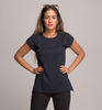 cap sleeve top navy blue 2