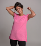 cap sleeve top sherbet pink