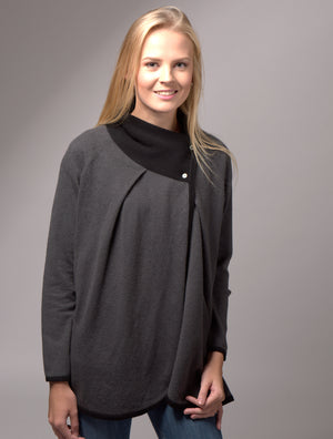 Cashmere Wrapover Coat