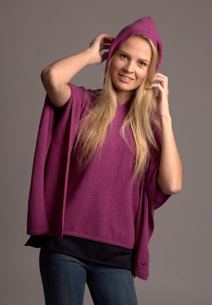 hooded cashmere poncho potpourri