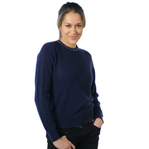 Women's Crew Neck Cashmere Jumpers Blue