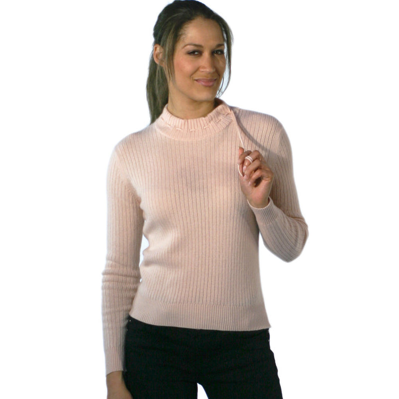 Mock Turtleneck Cashmere Jumper Soft Peach