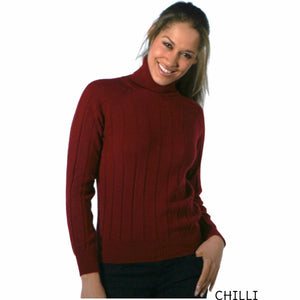 Polo Neck Cashmere Jumpers Chilli