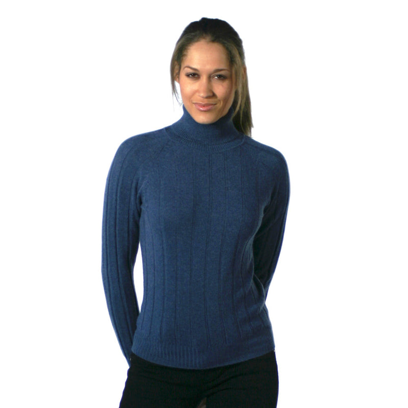 Polo Neck Cashmere Jumpers Blue Jeans