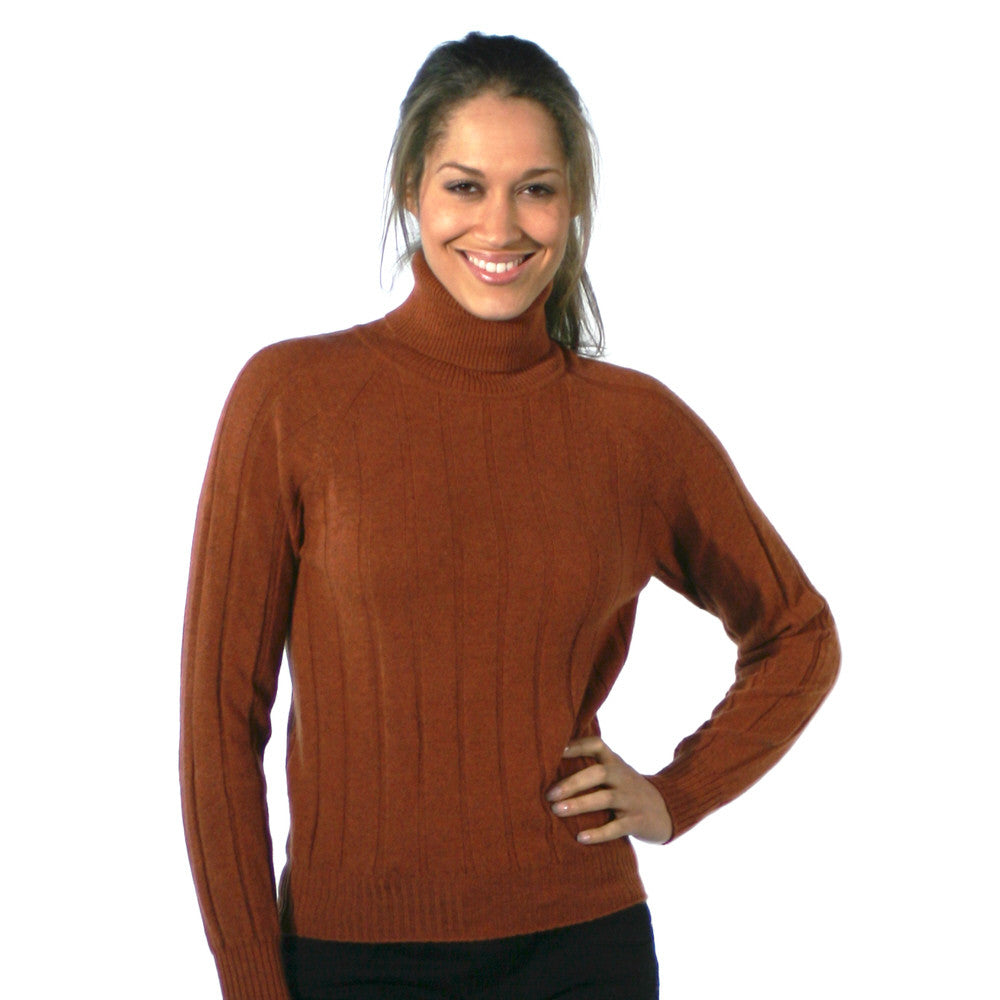 Polo Neck Cashmere Jumpers Terracotta