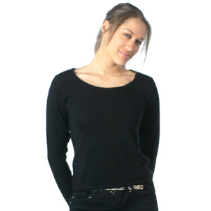 Scoop Neck Cashmere Jumpers Black
