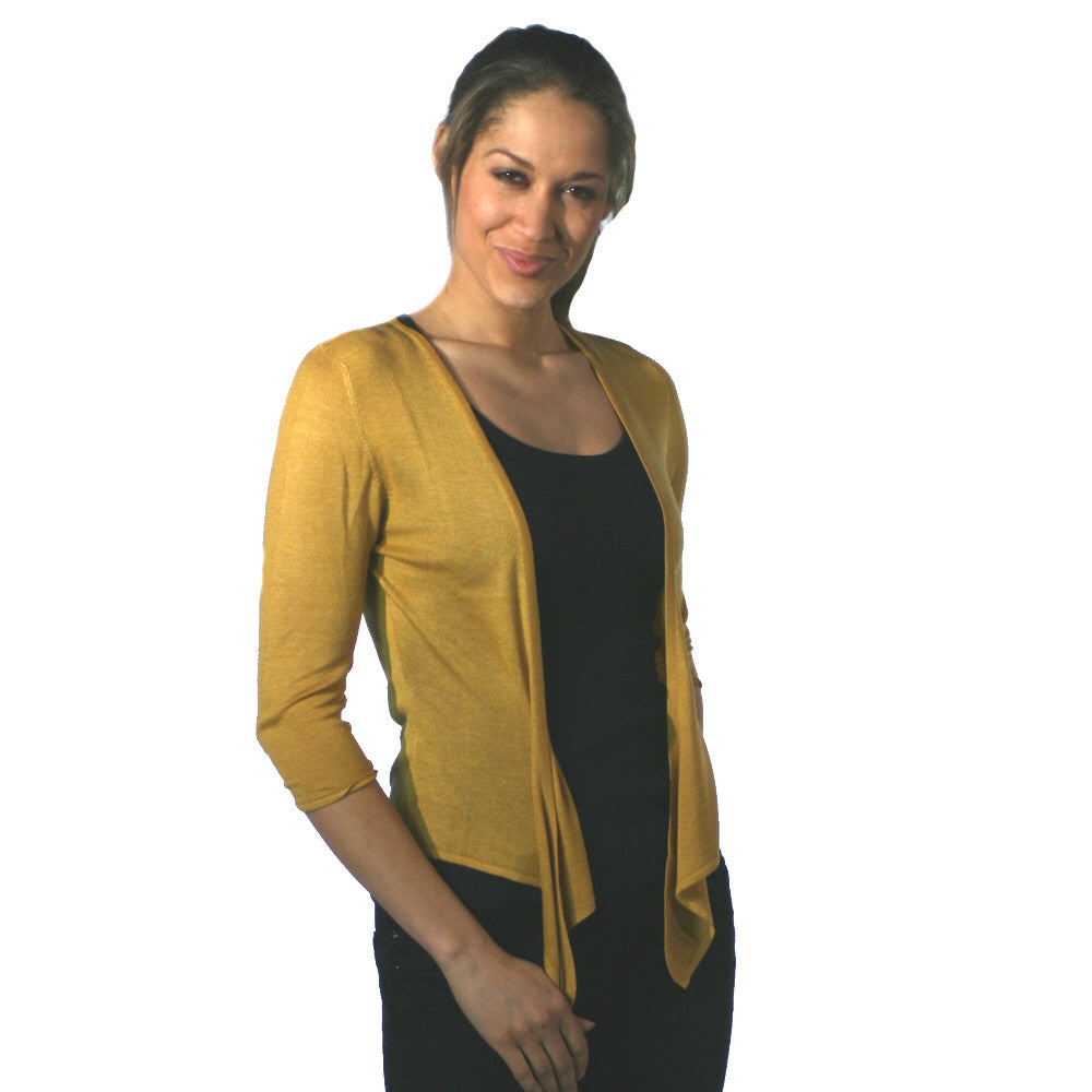 silk and cashmere ballet mustard