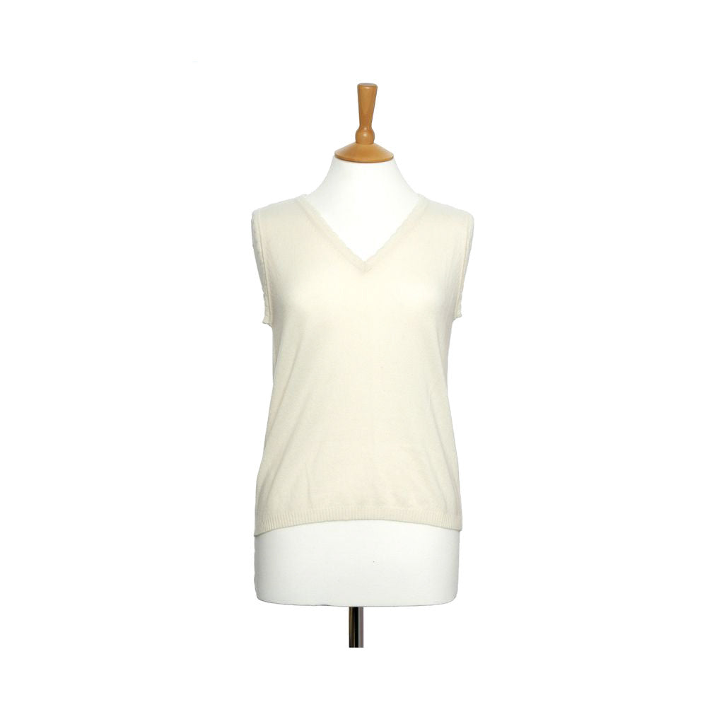 women's v neck vest top snow