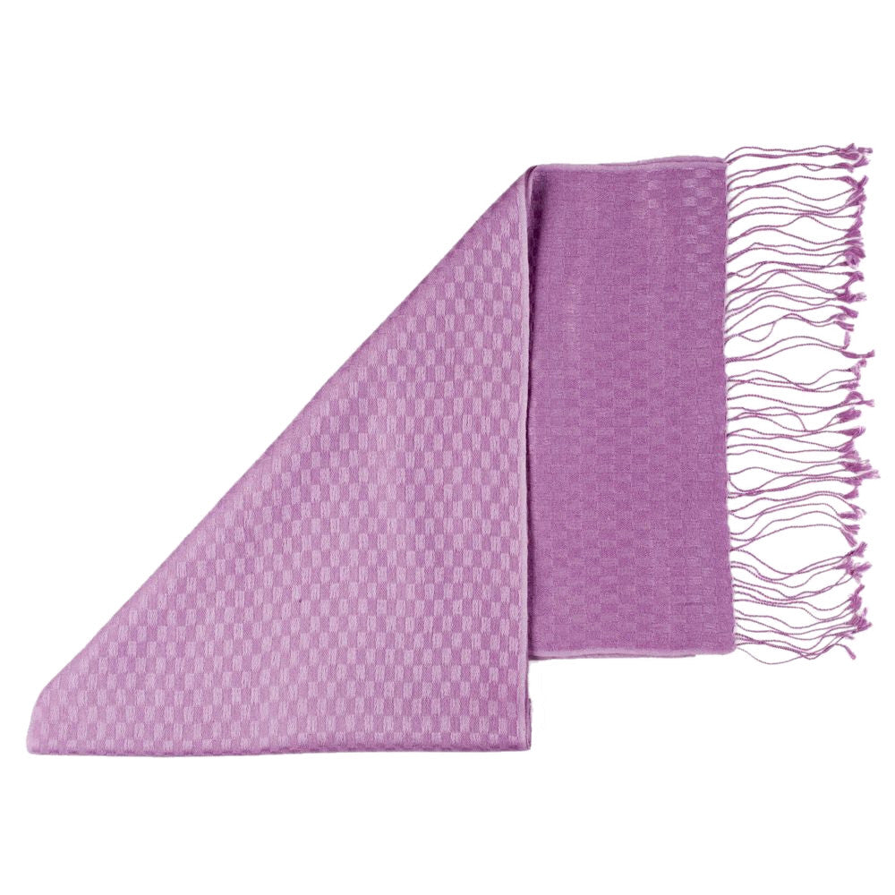 pashmina scarves checkered lilac