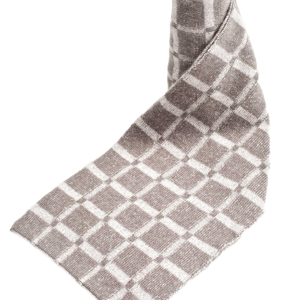 checkered cashmere scarves toast