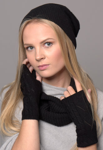 Luxury Cashmere Cable Knit Hats