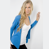 slate blue cashmere top