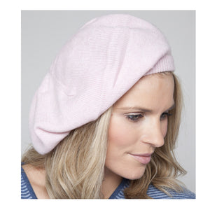 cashmere beret baby pink