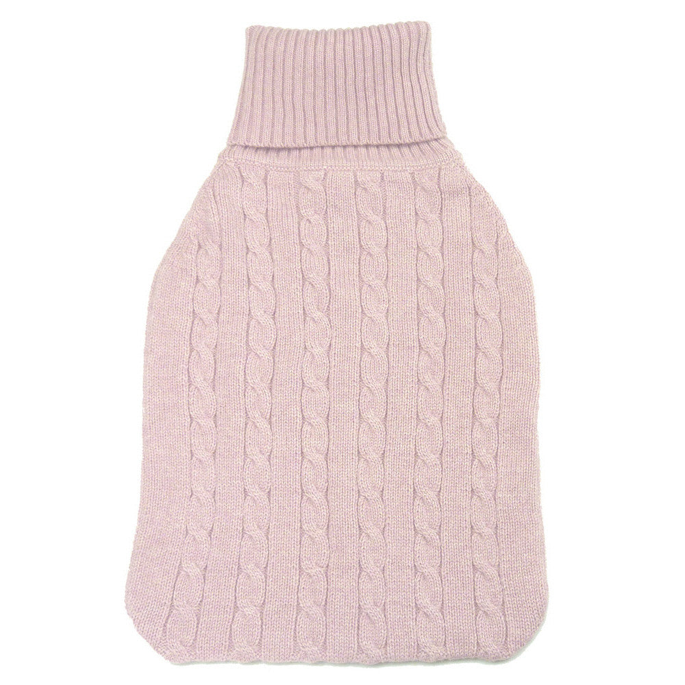cashmere hot water bottle covers baby pink