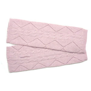 cashmere wristwarmers baby pink