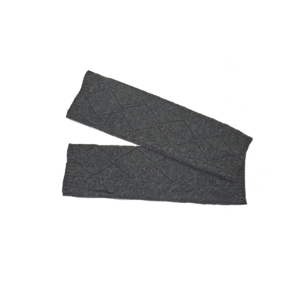 cashmere wristwarmers charcoal