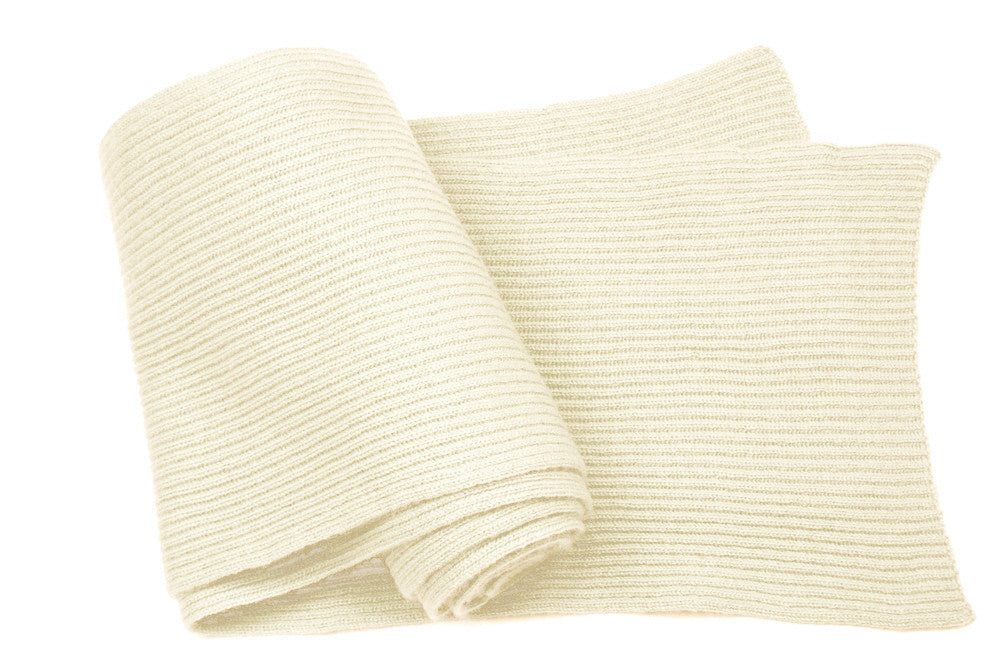 Fine Ribbed Cashmere Scarves Cream