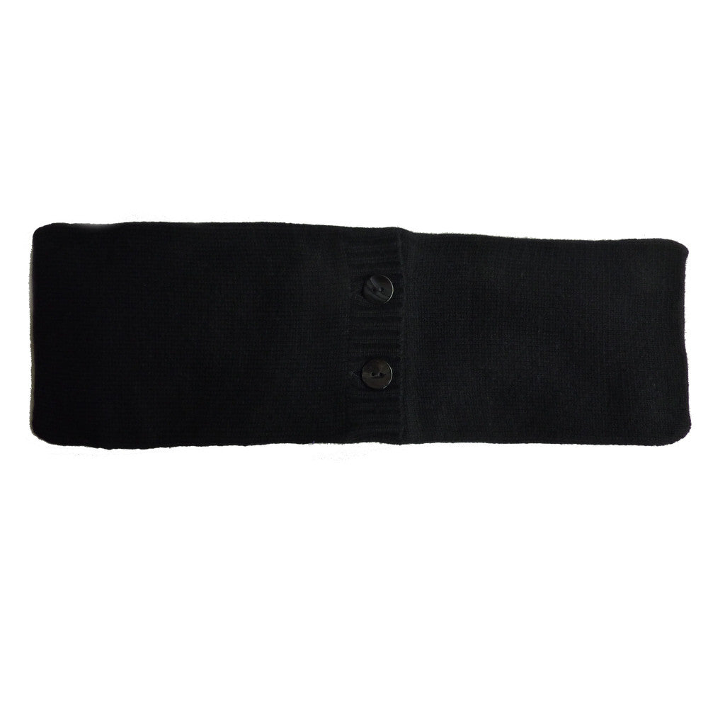 wheat pillow with cashmere cover black
