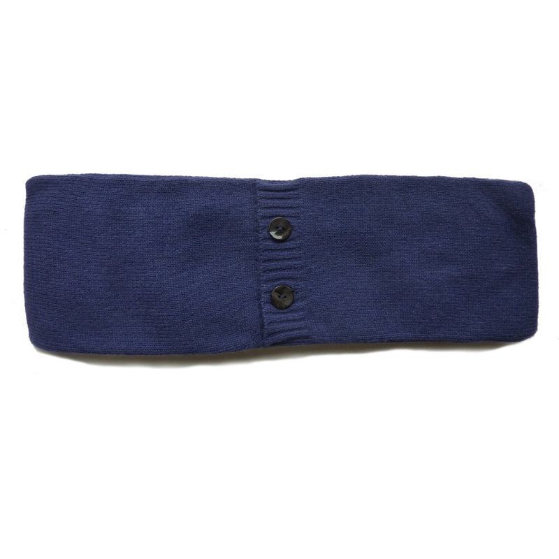 wheat pillow with cashmere cover blue