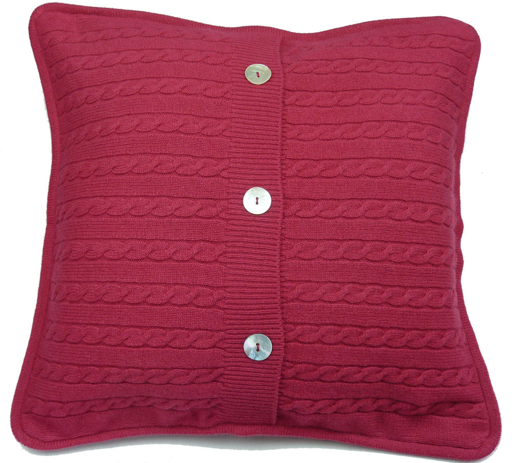 cashmere cushion covers crimson