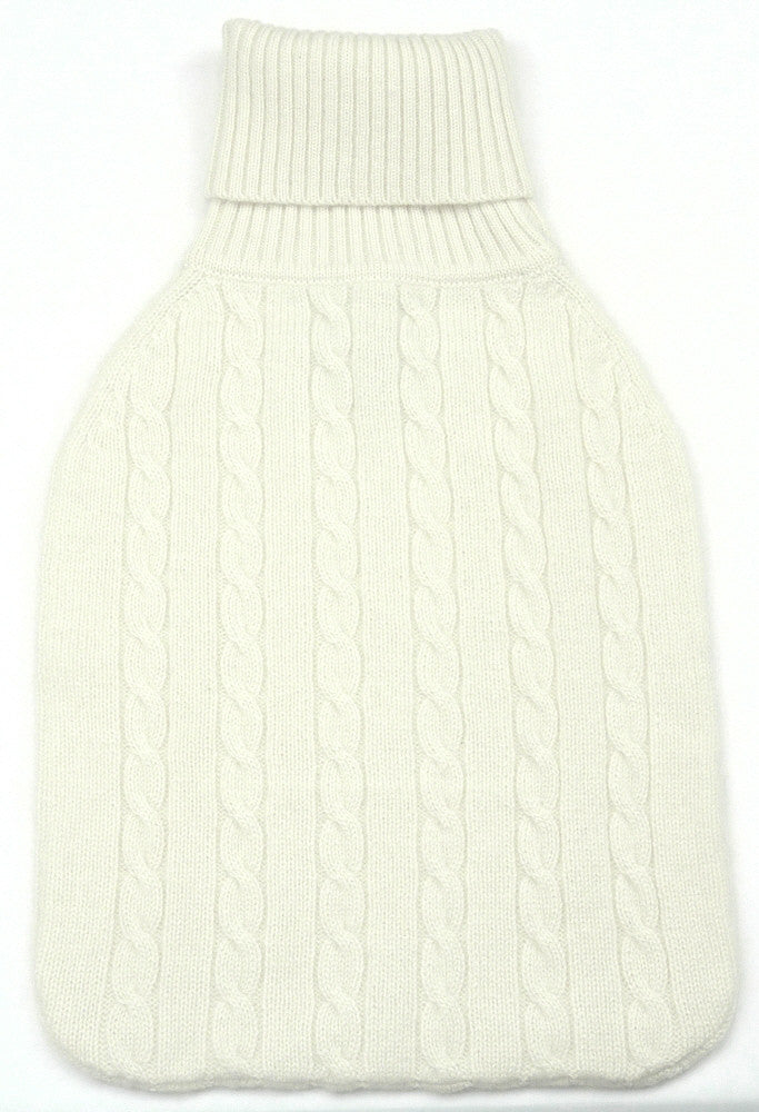 cashmere hot water bottle covers cream