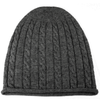 Luxury Cashmere Cable Knit Hat Charcoal
