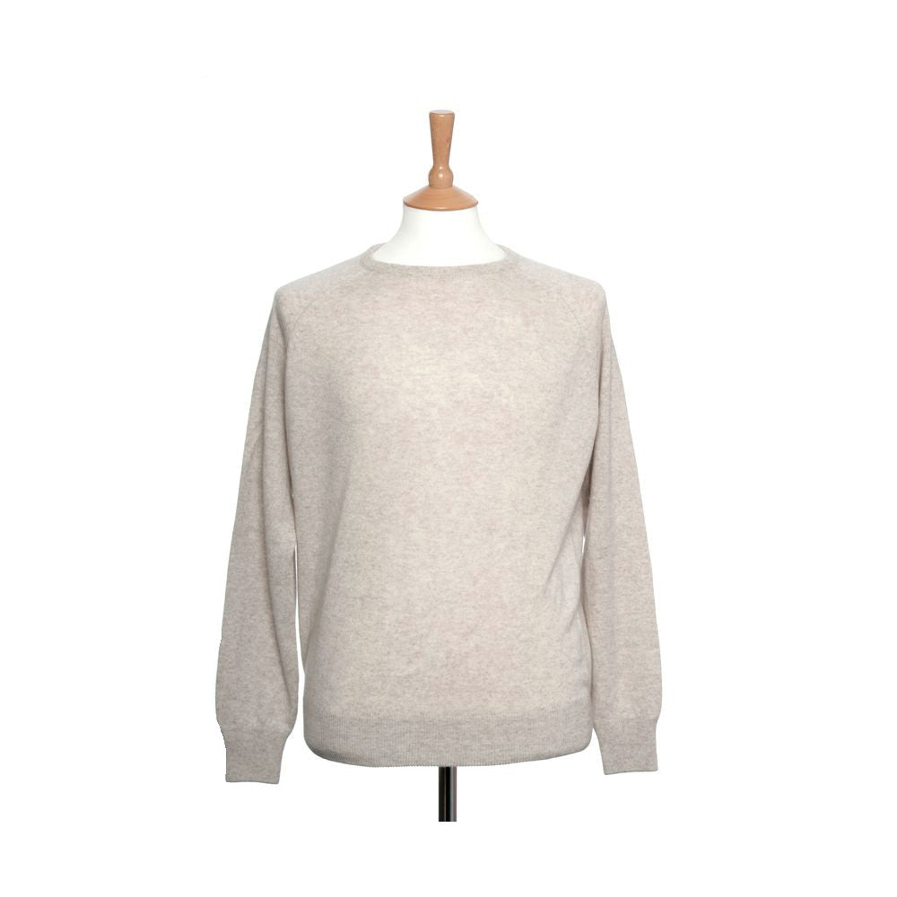 men's crew neck cashmere sweaters oatmeal