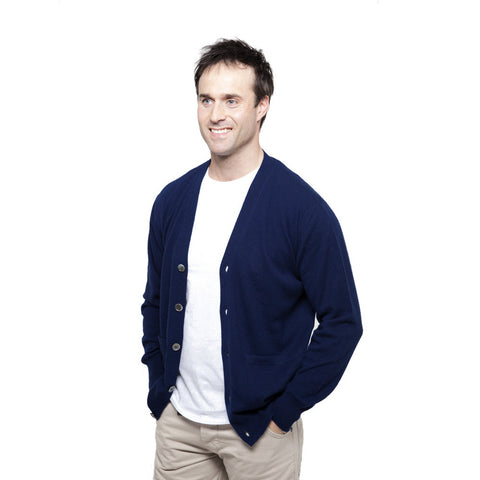 Men's Zip Up Cashmere Cardigans