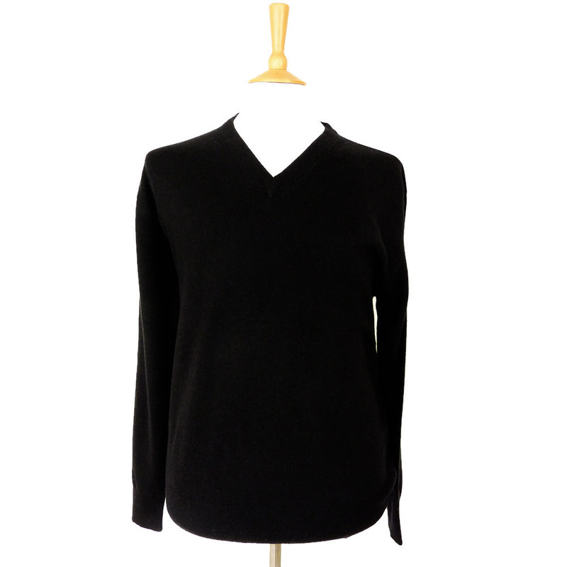 men's black v neck cashmere jumpers
