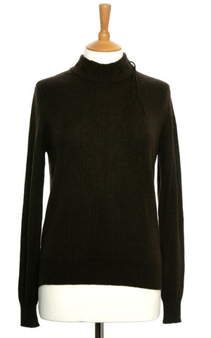 Mock Turtleneck Cashmere Jumper Cocoa