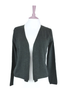 open drape cashmere cardigan in charcoal