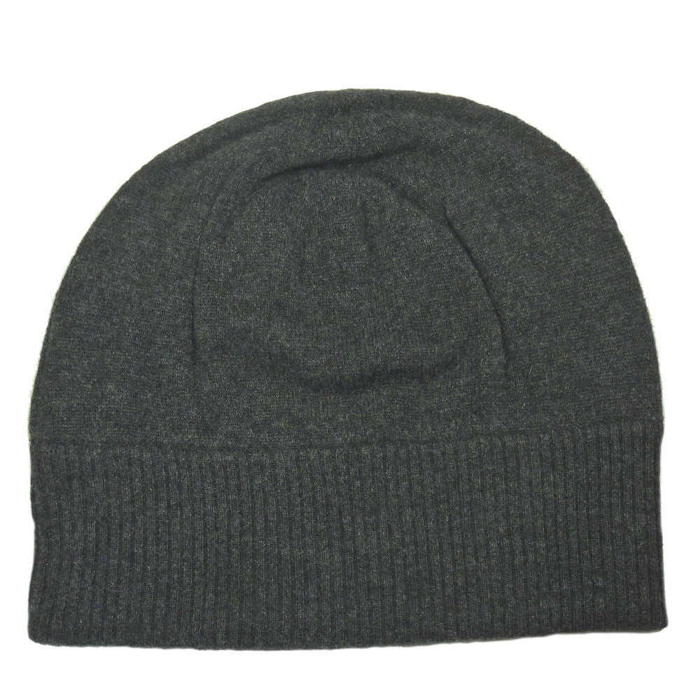 Unisex Cashmere Beanie Hat Charcoal