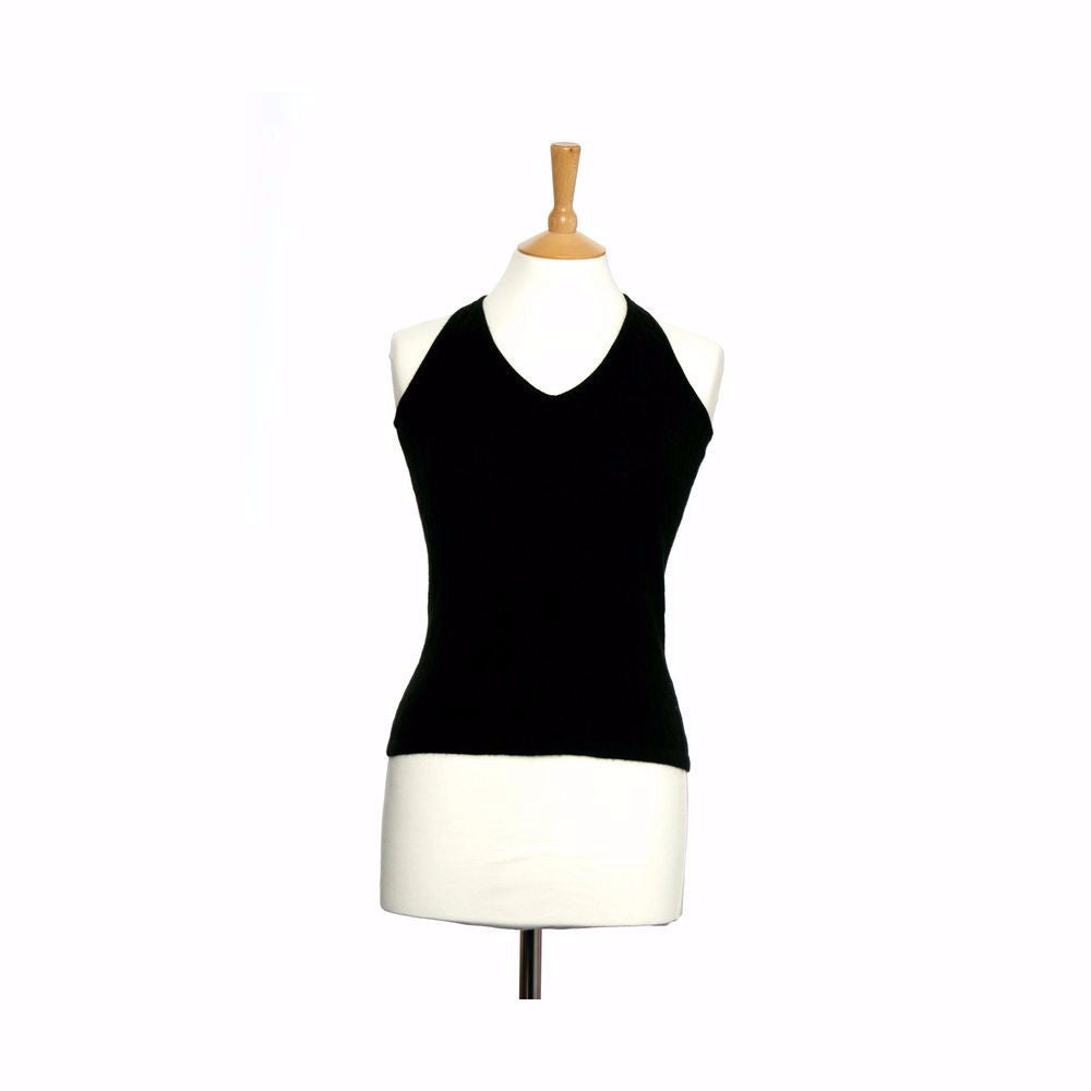 Cashmere Halter Neck Top Black